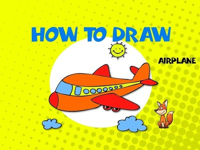 How to draw and color an airplane - STEP BY STEP ART GUIDE - ART LESSON