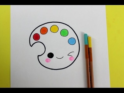 HOW TO DRAW CUTE COLORS : easy drawing for kids