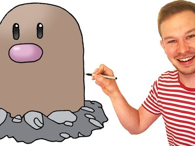 How to Draw Diglett (Pokemon) Step by Step Art Lesson