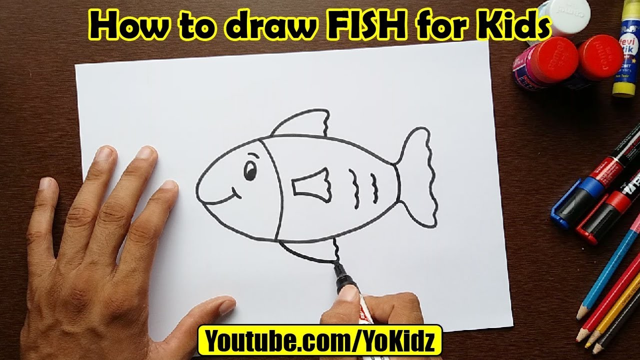 How to draw FISH for kids
