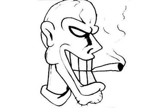 How to draw graffiti character smoking cigarrette dj xed electrify electro music