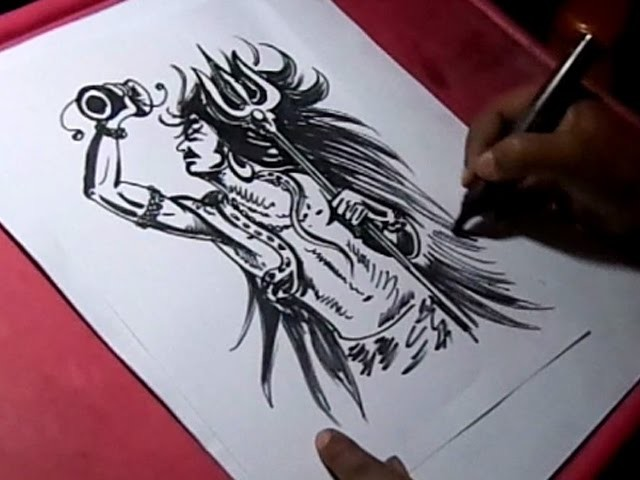 How To Draw Lord Shiva Black Sketch Drawing