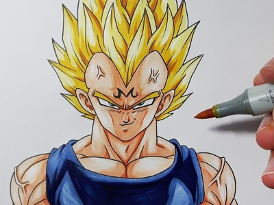 How To Draw MAJIN Vegeta - Step By Step Tutorial!