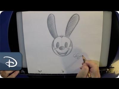 How-To Draw Oswald the Lucky Rabbit | Walt Disney World