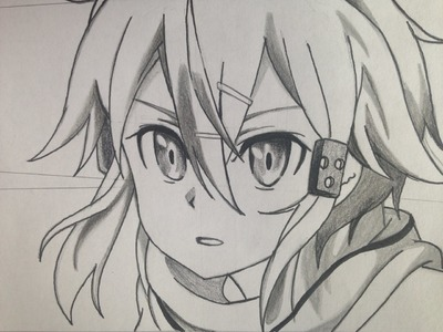 How to draw Sinon (step by step tutorial) Sword Art Online