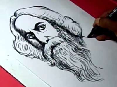 How to Draw TAGORE DRAWING for kids