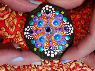How to paint dot mandalas #24- Byzantine cross