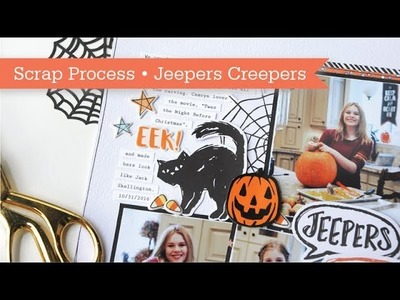 Layout Process #12: Jeepers Creepers Scrapbook Page