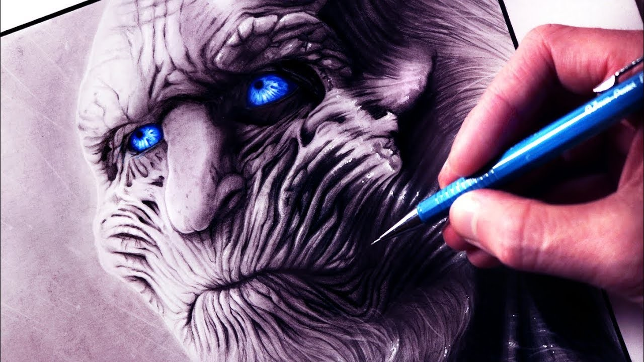 Let's Draw a WHITE WALKER from GAME OF THRONES - FAN ART FRIDAY