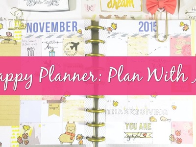 Plan With Me In My Happy Planner: November