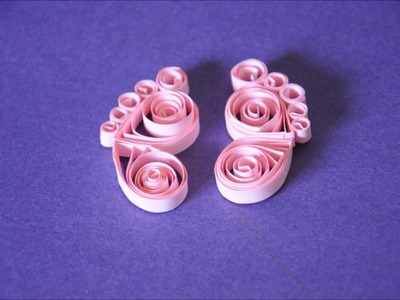 Quilled feet perfect for baby card, frames and projects in a easy way -SSCArts 291