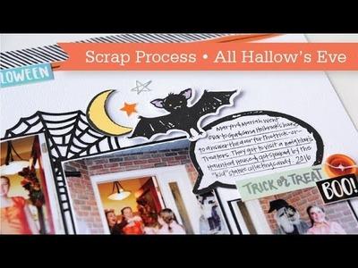 Scrapbook Process #13: All Hallow's Eve
