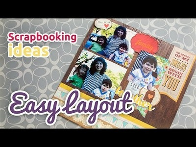 Scrapbooking ideas - Easy layout