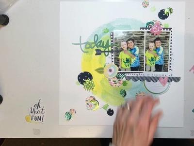 Scrapbooking Process #6- #Besties for Therm O Web and Taylored Expressions