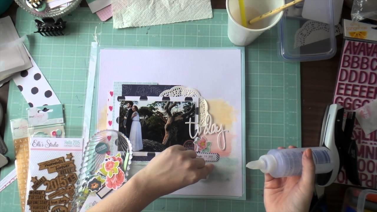 Scrapbooking Process Video 12x12 - Jan Hip Kit #1