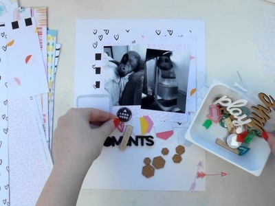 Scraptastic Process Video ~ Cheeky Little Moments ~ 8 5 x 11 Scrapbooking Layout + + + INKIE QUILL