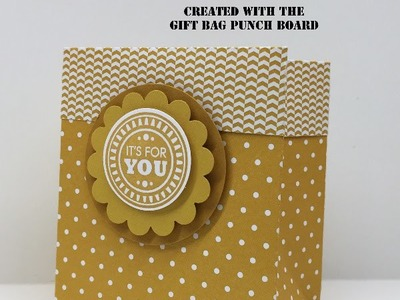 Stampin' Up! Punch Board Gift Bag with a Fold Over Top