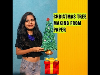 3D Paper Christmas Tree | How to Make a 3D Paper Xmas Tree DIY Project | Pooja bera