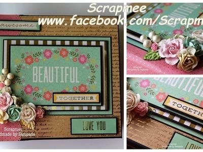 Beautiful Together   Handmade Scrapbook.Mini Album   Love.Anniversary.Friends Gift  