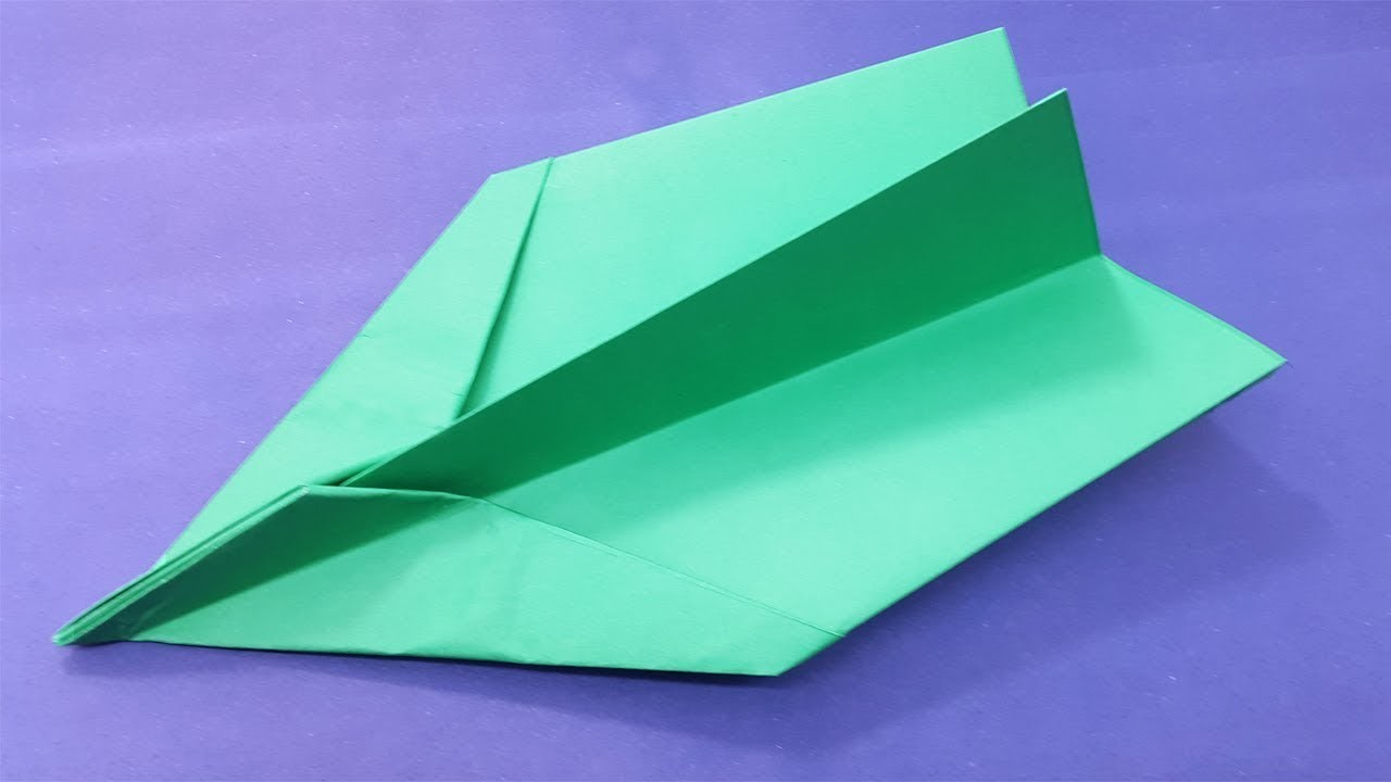 Best & Easy Paper Airplane | How To Make A Origami Super Plane - Latest & Faster In The World