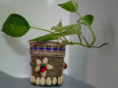 Best Use Of Waste Plastic Containers For Making Planters | How To | CraftLas