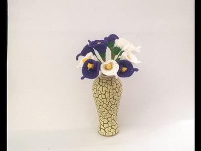 Calla lily flower crochet tutorial - flower bouquet crochet
