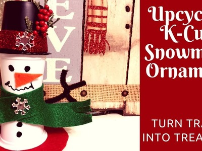Christmas Crafts: How to Make a Snowman from Upcycled K-Cups