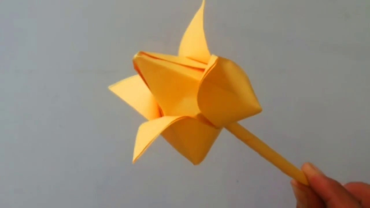 Paper Cool Origami Flower How To Make Flower Out Of Paper Diy