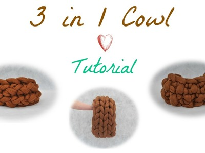 Cowl Tutorial for Arm Knitting (3 designs)