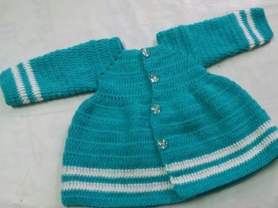 Crochet frock design for newborn baby