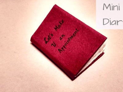 Diy : how to easily make mini diary using A4  paper