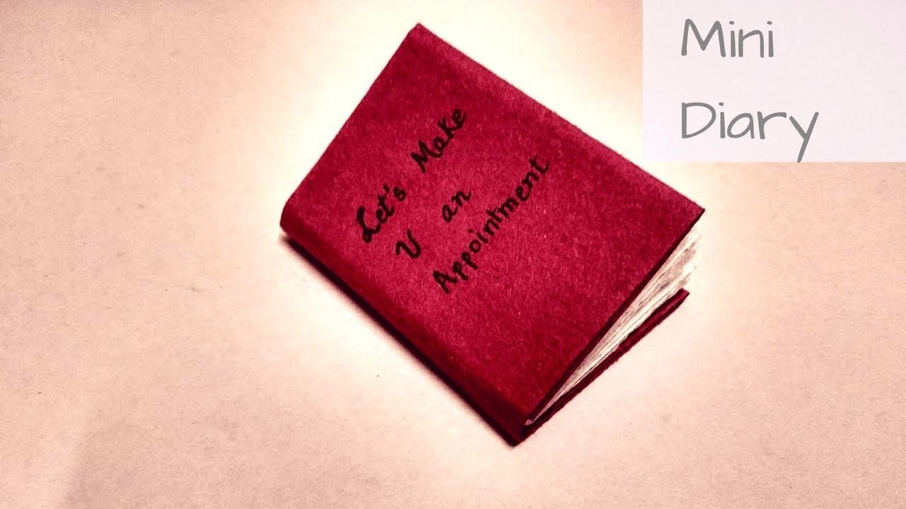 Diy : how to easily make mini diary using A4  paper