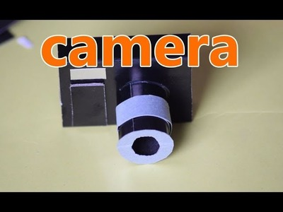 DIY- How TO Make An Awesome Camera with paper II easy Tutorials II Craft making.