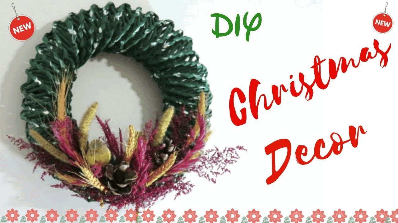 DIY: How to make Christmas wreath decor | Christmas decor