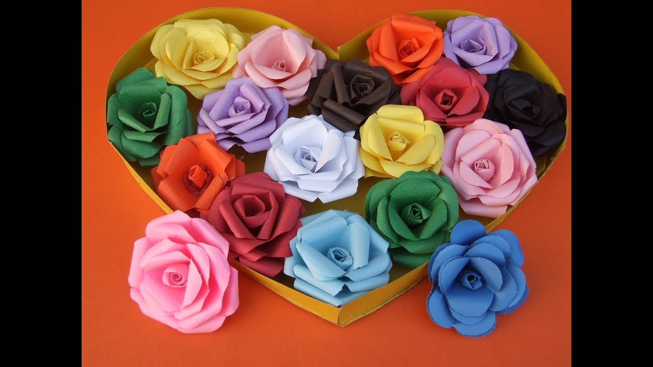 Diy How To Make Easy Paper Rose Flowers Daily Paper Art Queen Of Diy