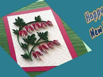DIY | How to Make New Year Greeting Card   | Quilling Design |Siri Art&Craft |