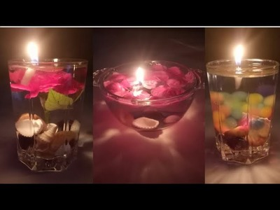 DIY Water candle.How to make water candle at home.Candlelights.diwali decoration idea