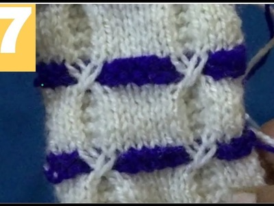 Double Colour Sweater Design Bunai    In Hindi    Two Colour Knitting Sweater Pattern.