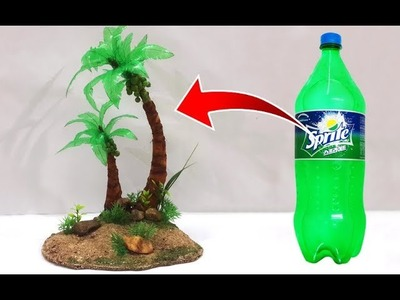 Easy Best Out of Waste Recycled Craft Ideas | DIY Coconut Tree Making | Easy Plastic Bottle Crafts
