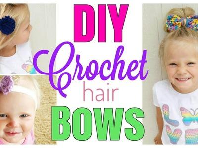 EASY CROCHET HAIR BOW TUTORIAL | CROCHET BOW |
