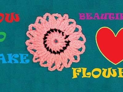 FLOWER WITH SMALL PATTERN KUSHI KATA & CROCHET DESIGN