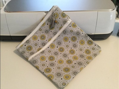 HOW TO.  A Double Pocket Zipper Pouch with Cricut Maker