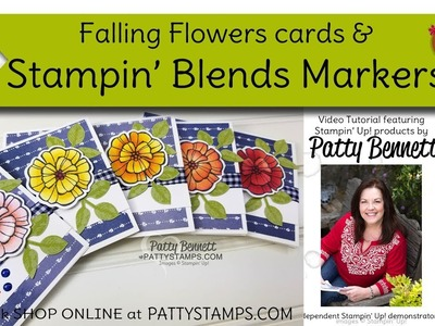 How to Color flowers with Stampin' Blends markers from Stampin' Up!