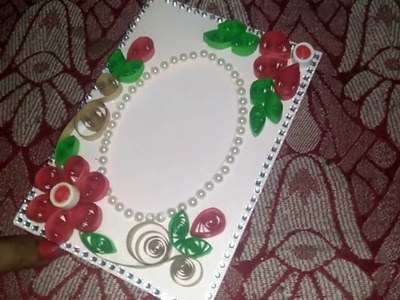 How to Design photo frame with quilling cards by teac
