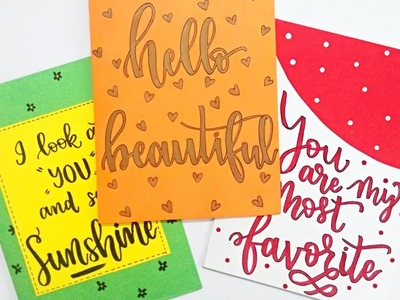 How to : DIY Greeting Cards   3 Easy & Quick Greeting Cards Ideas   Christmas special Greeting Cards