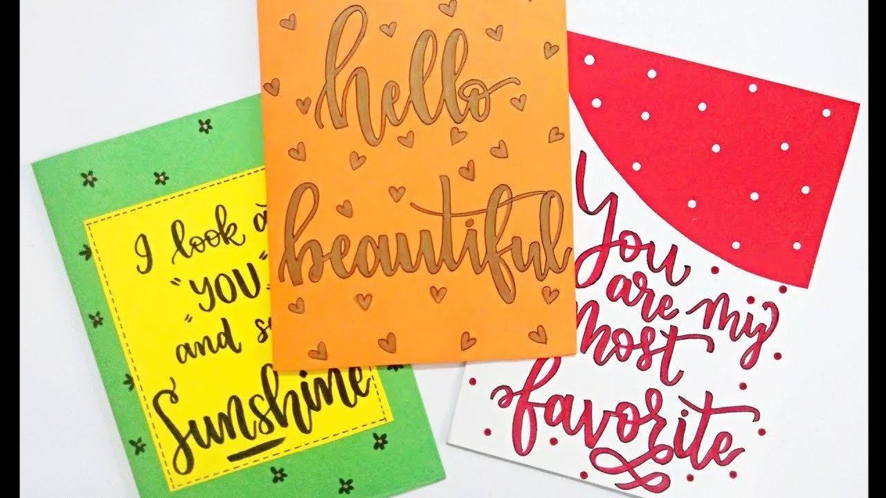 How to : DIY Greeting Cards | 3 Easy & Quick Greeting Cards Ideas | Christmas special Greeting Cards
