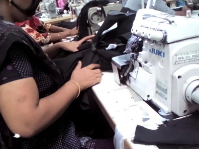 How to do Front Rise & Single Fly Overlock Garments Factory