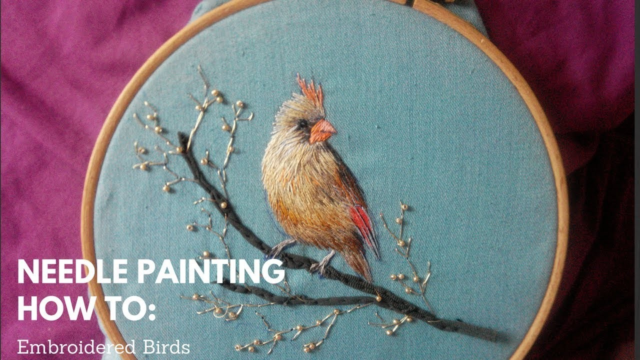 How to embroider a bird