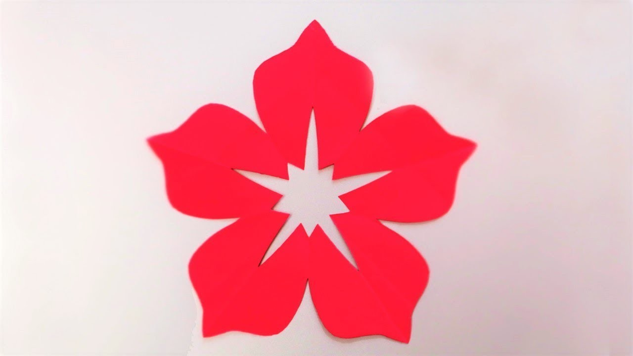 How to make 5 petal hand cut paper flowers origami flower easy how to make 5 petal hand cut paper flowers origami flower easy paper crafts mightylinksfo