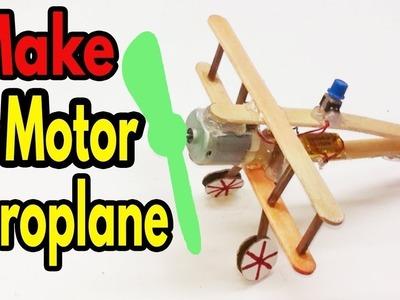 How to make a awesome aeroplane with dc motor [beautiful woodplane 2017] dc motor aeroplane